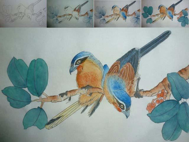 Cursus Chinees schilderen op vrijdagmiddag